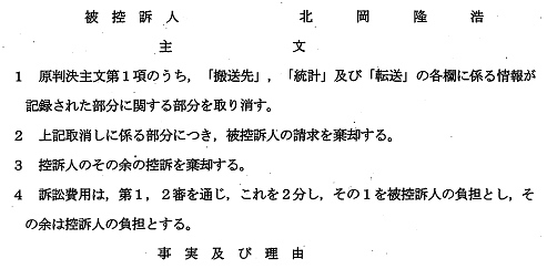 令和元年5月16日大阪高裁判決