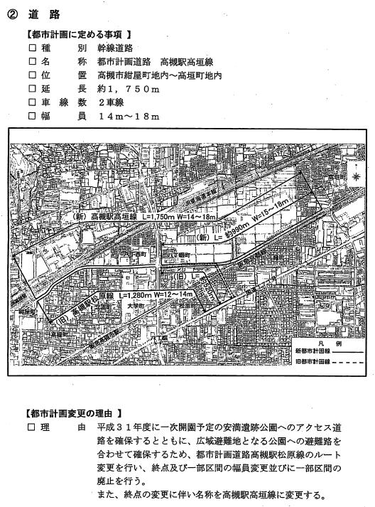 都市計画高槻駅高垣線