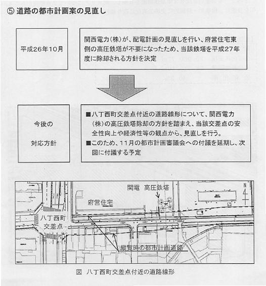 都市計画・高槻駅高垣線の整備で強制収用