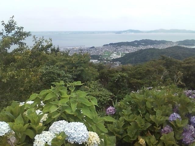 比島観音から望む三河湾